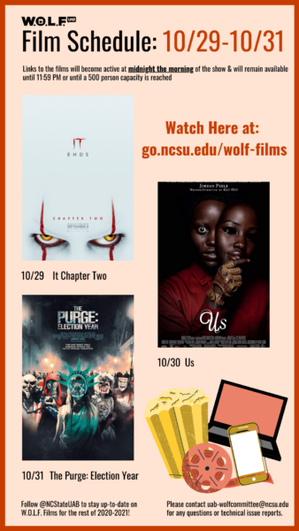 WOLF's Q2 Films for Oct. 29-31