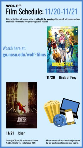 WOLF Weekly Films for Week of 11/20