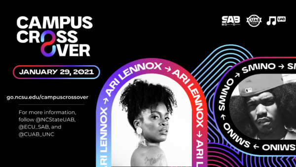 Artist Announcement for Campus Crossover 2021 from UAB's Concerts Committee