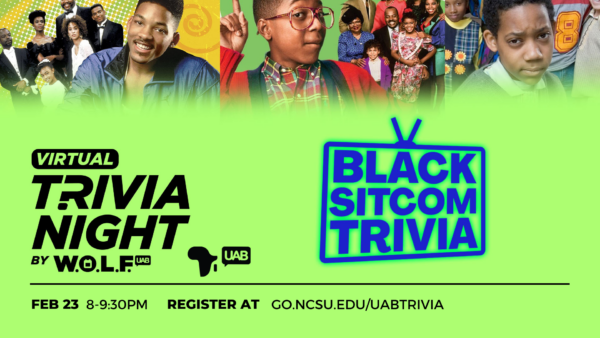 UAB Black Sitcom Trivia Night Promo for February
