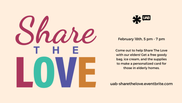 UAB Share the Love Promotional Graphic